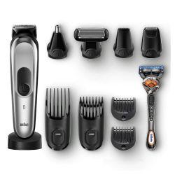 Braun Multigroomer MGK7920TS 100 perc, Li-Ion ezüst-fekete szakáll-, és hajvágószett