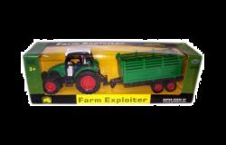 Regio 64095 (34 cm) zöld Exploiter traktor utánfutóval