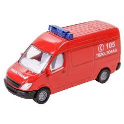 Siku 66983 (8 cm) piros Mercedes-Benz tűzoltó kisbusz