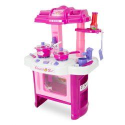 G21 (690402) Gyermek konyha edénykészlettel (Rózsaszín)