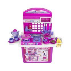G21 (690677) Összecsukható rózsaszín játék konyha