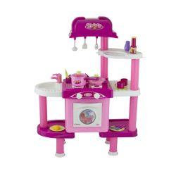 G21 (690679) 008-32 Összecsukható rózsaszín játék konyha