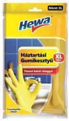 Hewa KHT689 XL méret, 1 pár sárga háztartási gumikesztyű