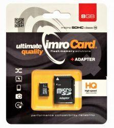 IMRO 10/8G ADP MicroSDHC 8GB Class 10 memóriakártya