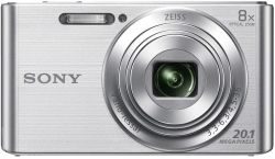 Sony DSC-W830 20.1MP, 8x zoom ezüst kompakt fényképezőgép + 32GB SD kártya