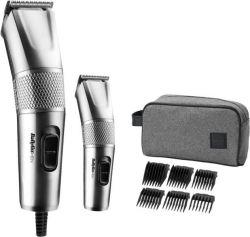 BaByliss 7755PE 1-8 mm, 6 fésű ezüst-fekete hajvágó