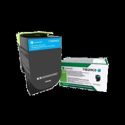 Lexmark Cyan 3500 oldal / CS417dn, CX417de nagy kapacitású toner
