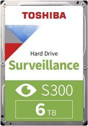 """Toshiba S300 Surveillance 3.5"""", 6TB, SATA/600, 7200RPM, 128MB belső merevlemez"""