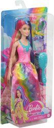 Mattel Barbie (GTF37/GTF38) Dreamtopia rózsaszín-kék hajú hercegnő baba