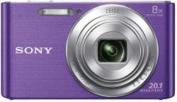 Sony DSC-W830 20.1MP, 8x zoom lila kompakt fényképezőgép + 32GB SD kártya