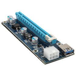 Riser PCI-Express X1 - X16 + táp Mining/Rendering Kit Pro - 6 pin Adapter