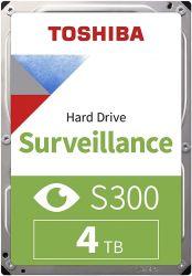 Toshiba S300 Surveillance, 3.5, 4TB, SATAIII, 5400RPM 128MB belső merevlemez