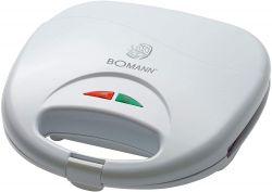 Bomann ST 5016 CB 750 W, 2 jelzőfény fehér szendvicssütő