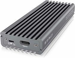 IcyBox IB-1817M-C31 M.2 NVMe, USB 3.1 Type-C szürke külső SSD ház írásvédelemmel