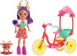 Mattel Enchantimals GJX30 - Kerékpárbarátok játékkészlete Danessa Deer szarvas babával
