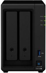 Synology DiskStation DS720+ 2-lemezes (4×2,0-2,7 GHz CPU, 2 GB RAM) Nas szerver