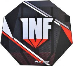Florpad Infamous 120x120x0,4 cm fekete-piros gamer szőnyeg