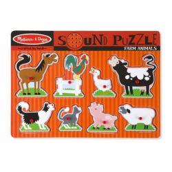 Regio 726 Állatok 8 darabos puzzle hanggal