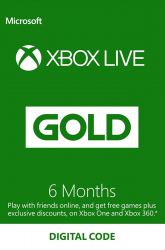 Microsoft Xbox Live Gold 6 hónapos feltöltőkártya