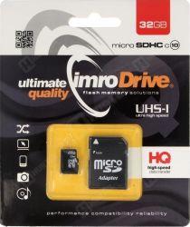IMRO 10/32G UHS-I ADP MicroSDHC 32GB Class 10 memóriakártya