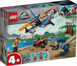LEGO® (75942) Jurassic World Velociraptor: Kétfedelű repülőgépes mentőakció