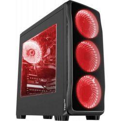 Natec Genesis TITAN 750 USB 3.0 piros midi számítógép ház