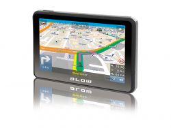 """Blow GPS590 Sirocco Europa, 5 """", 800 x 480, lítium-ion fekete-szürke GPS navigáció"""