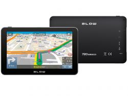 "Blow GPS720 Sirocco Europa, 7 "", 800 x 480, lítium-ion fekete GPS navigáció"