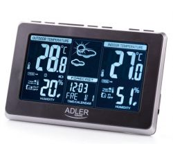 Adler AD 1175 LCD, 433,99 MHz fekete meteorológiai állomás