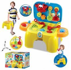 G21 008-802 a homokozóba hordozható székkel sárga játékkészlet