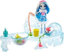 Mattel Enchantimals GJX48 - Jéghorgászó szett Sashay Seal babával