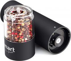 Lamart LT7021 4x AA, 5.3 cm átmérő fekete-átlátszó fűszerőrlő