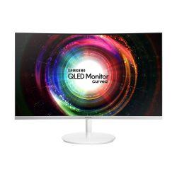 """Samsung LC32H711QEUXEN 31.5"""" WQHD VA HDMI miniDP Ívelt fehér / ezüst monitor"""