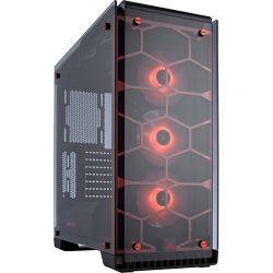 Corsair Crystal Series 570X RGB ATX Mid-Tower, piros számítógép ház