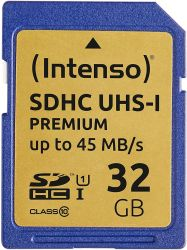 Intenso 3421480 SDHC, 32GB, Class 10, UHS-I Premium memóriakártya