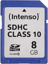 Intenso 3411460 SDHC, 8GB, Class 10 memóriakártya