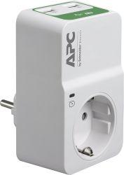 Apc PM1WU2-GR Essential SurgeArrest 1 aljzat 230V, 16A, 2 USB fehér túlfeszültség védő