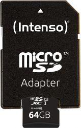 Intenso 3423491 microSDXC, 128GB, Class 10, UHS-I Premium memóriakártya