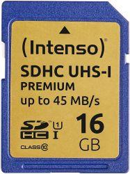 Intenso 3421470 SDHC, 16GB, Class 10, UHS-I Premium memóriakártya