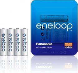 Panasonic Eneloop AAA 750mAh NIMH (4 db) Újratölthető elem (Sliding pack)