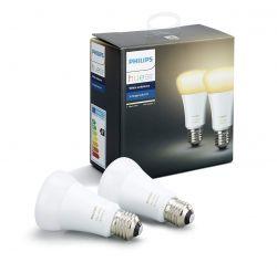 Philips Hue White Ambiance 9.5 E27 2200-6500K fehér szabályozható 2 db LED fényforrás
