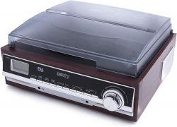 Camry CR 1168 Bluetooth / MP3 / USB / SD / felvétel fa-fekete-ezüst lemezjátszó