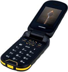 """myPhone Hammer Bow+ 2,4"""" 128MB Dual SIM 3G fekete csepp-, por- és ütésálló mobiltelefon"""
