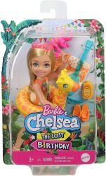 Mattel Barbie (GRT80/GRT81) Barbie and Chelsea - az elveszett szülinap - Chelsea baba zsiráfos úszógumival