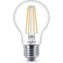 Philips LED classic 7W, 60W váltó A60 806lm 2700K E27 filament meleg fehér LED fényforrás