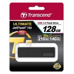 Transcend Jetflash 780 128GB USB 3.0 fekete pendrive
