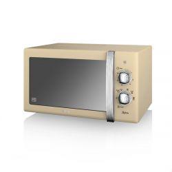 Swan SM22130CN 20 L, 800 W krém-ezüst mikrohullámú sütő
