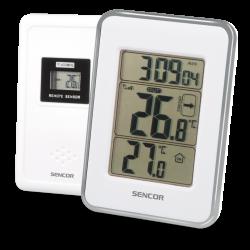 Sencor SWS 25 WS vezeték nélküli hőérzékelővel, ezüst időjárás állomás