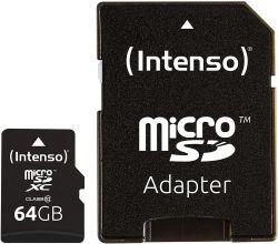 Intenso 3413490 microSDXC, 64GB, Class 10 memóriakártya