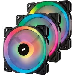 Corsair LL120 RGB LED Static Pressure 120 mm, PWM, three fans hűtő ventilátor